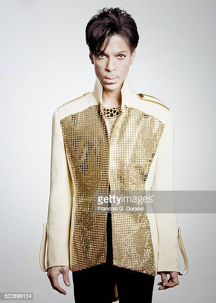 Musician Prince poses for a portrait on October 7 2009 in Paris France