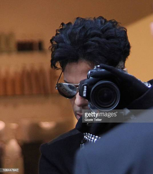 Musician Prince seen leaving an hairdressers on Via Della Vite on November 2 2010 in Rome Italy