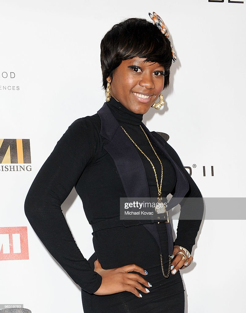 Musician Priscilla Renea arrives at the EMI Post-GRAMMY Party at W Hollywood on January 31, 2010 in Hollywood, California.
