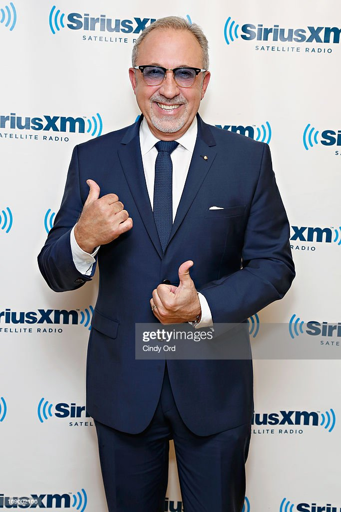 Musician/ producer Emilio Estefan visits the SiriusXM Studios on May 28, 2013 in New York City.