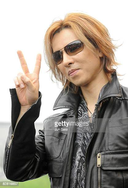 Musician/ producer Yoshiki of X JAPAN attends a press conference at the National Yoyogi Gymnasium Olympic Plaza on September 15 2008 in Tokyo Japan