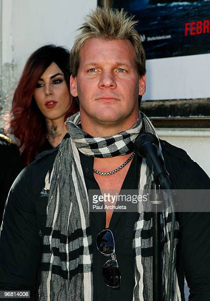 Musician / Professional wrestler Chris Jericho attends the Revolver Golden Gods Awards press conference at Rainbow Bar Grill on February 17 2010 in...