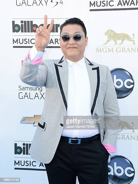 Musician Psy arrives at the 2013 Billboard Music Awards at the MGM Grand Garden Arena on May 19 2013 in Las Vegas Nevada