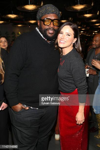 Musician Questlove and Actor and CoFounder of Detroit Blows Sophia Bush attend Quest Loves Food For Fashion Tech Forum at 10 Corso Como on April 11...