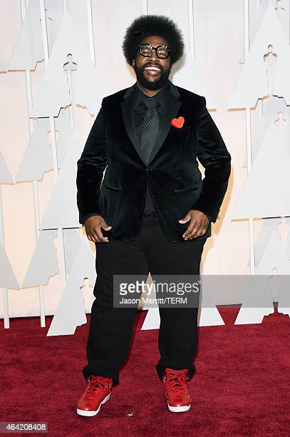 Musician Questlove attends the 87th Annual Academy Awards at Hollywood Highland Center on February 22 2015 in Hollywood California