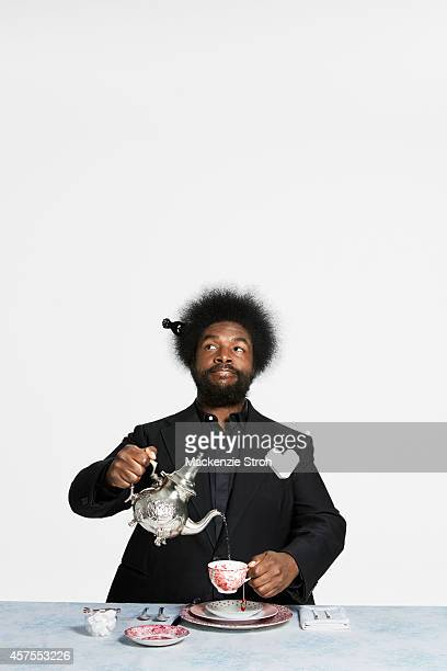 Musician Questlove is photographed for Bon Appetit Magazine on July 11 2013 in New York City