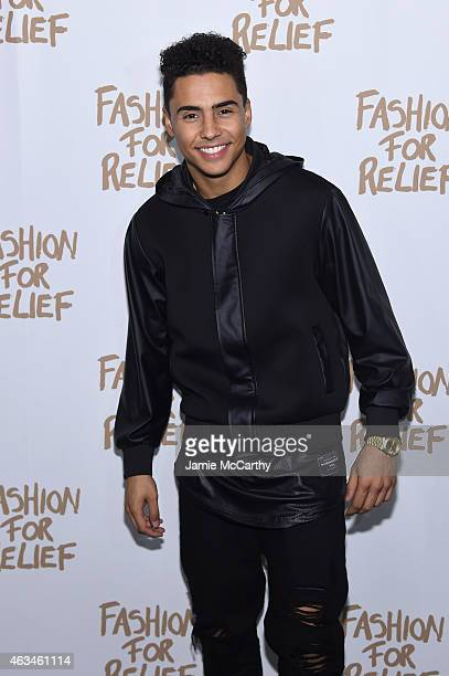 Musician Quincy attends Naomi Campbell's Fashion For Relief Charity Fashion Show during MercedesBenz Fashion Week Fall 2015 at The Theatre at Lincoln...