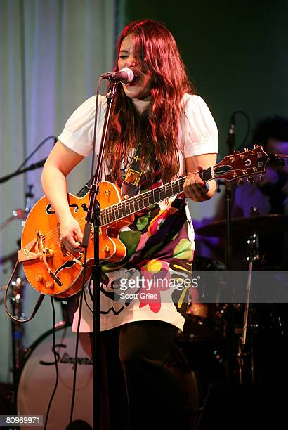 Musician Rachael Yamagata performs at the Tribeca ASCAP Music Lounge held at the Canal Room during the 2008 Tribeca Film Festival on May 2 2008 in...