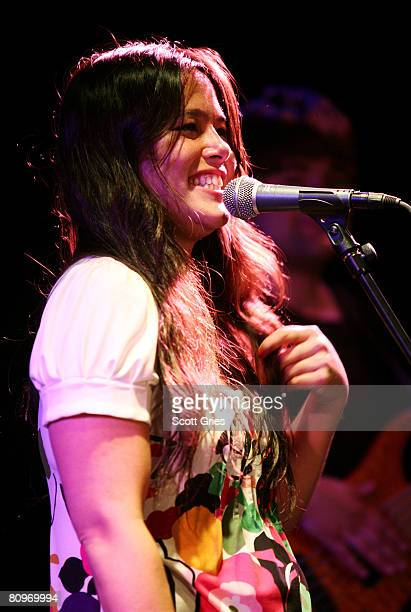 Musician Rachael Yamagata performs at the Tribeca ASCAP Music Lounge held at the Canal Room during the 2008 Tribeca Film Festival on May 2, 2008 in...