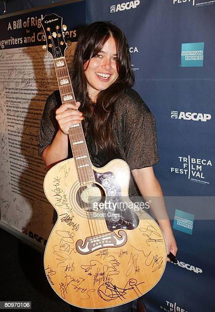 Musician Rachael Yamagata poses at the Tribeca ASCAP Music Lounge held at the Canal Room during the 2008 Tribeca Film Festival on May 2 2008 in New...