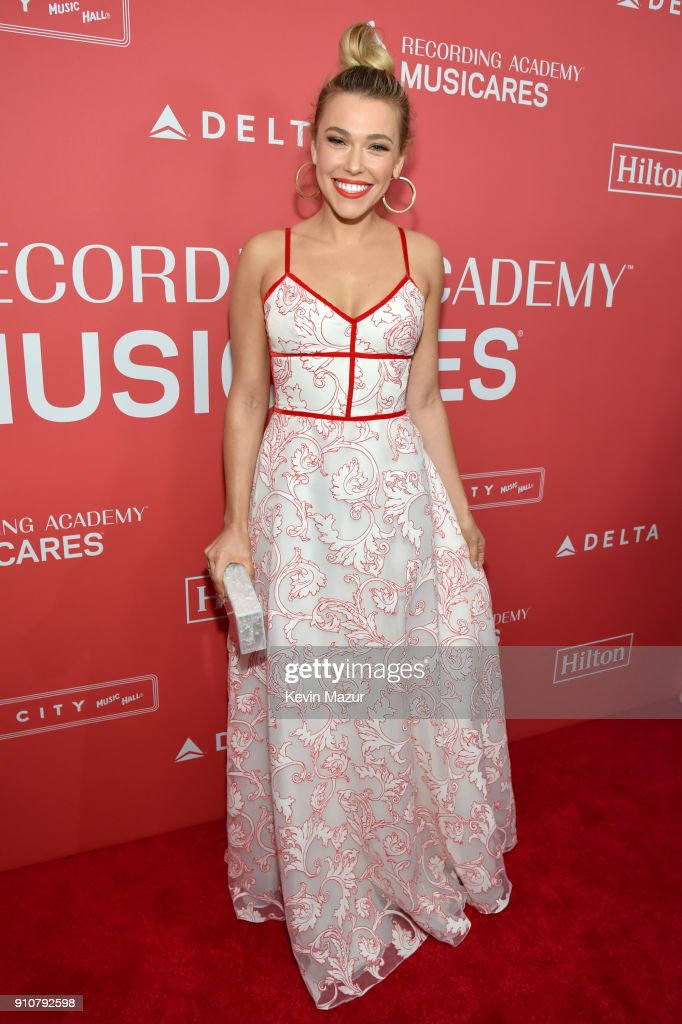 Musician Rachel Platten attends MusiCares Person of the Year honoring Fleetwood Mac at Radio City Music Hall on January 26, 2018 in New York City.