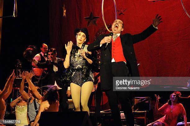 Musician Rachelle Garniez and actor Ian Buchanan perform at the Abrons Arts Center on October 27 2012 in New York City