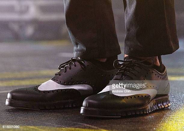 Musician Raine Maida shoe detail of Our Lady Peace performs onstage at Abbotsford Entertainment and Sports Centre on October 15 2016 in Abbotsford...