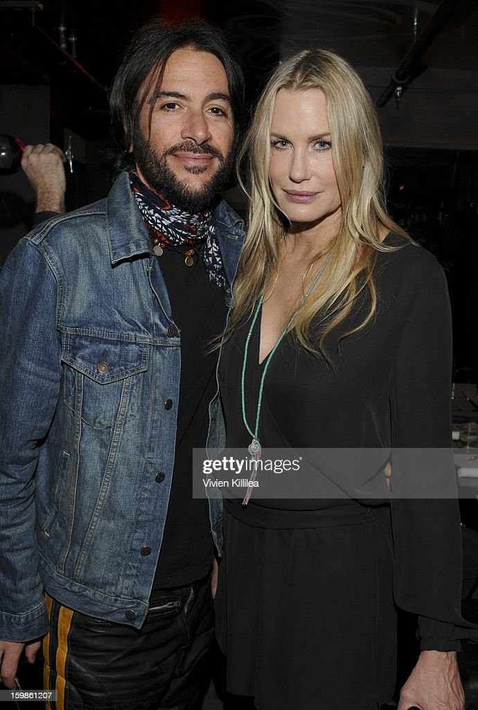 Musician Rami Jaffee and actress Daryl Hannah attends Focus Forward - Short Films Big Ideas Dinner - 2013 Park City on January 21, 2013 in Park City, Utah.