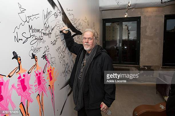 Musician Randy Bachman signs the wall at AOL Build Speakers Series Randy Bachman at AOL Studios In New York on April 22 2015 in New York City