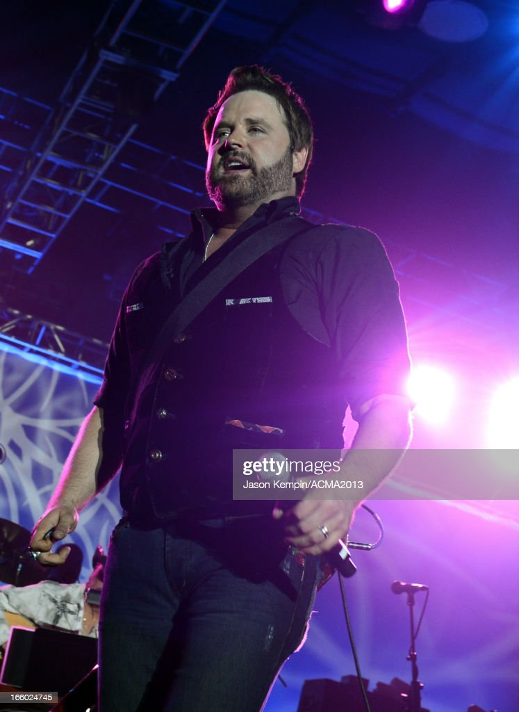 Musician Randy Houser performs onstage at the All Star Jam during the 48th Annual Academy Of Country Music Awards at the MGM Grand Hotel/Casino on April 7, 2013 in Las Vegas, Nevada.