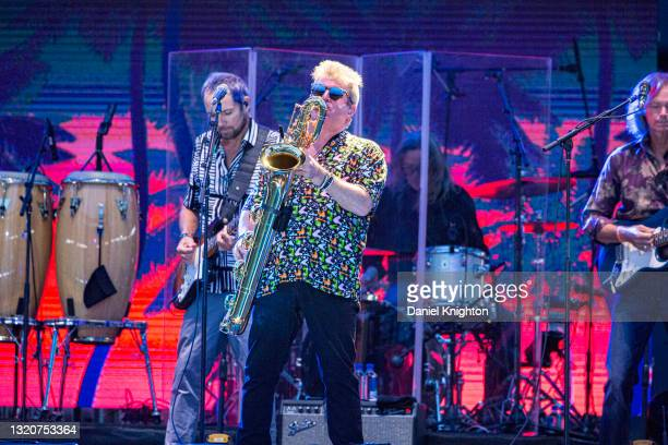 Musician Randy Leago of The Beach Boys performs on stage at PETCO Park on May 29, 2021 in San Diego, California.