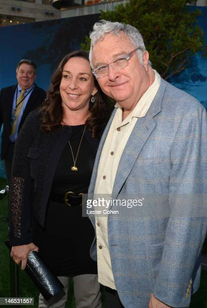 Musician Randy Newman and Gretchen Preece arrive at Disney Pixar's Brave World Premiere at Dolby Theatre on June 18 2012 in Hollywood California