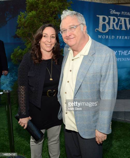 Musician Randy Newman and Gretchen Preece arrive at the premiere of Brave during the 2012 Los Angeles Film Festival at Dolby Theatre on June 18 2012...