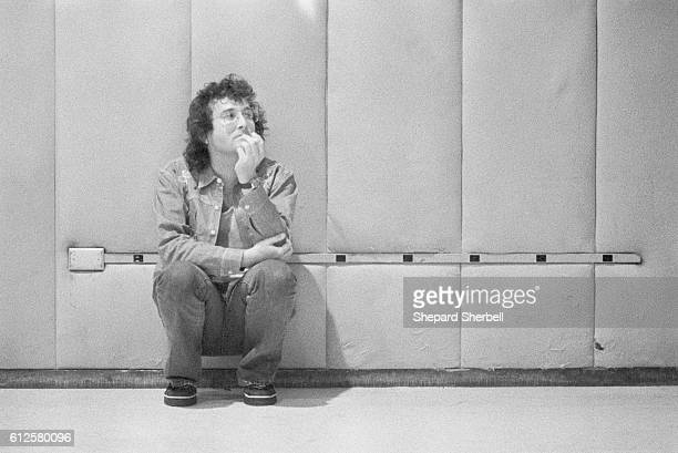Musician Randy Newman listens to a tape replay during recording sessions for Good Old Boys at Amigo Studios in Los Angeles