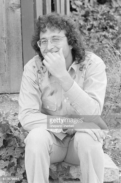 Musician Randy Newman outside his home in Los Angeles