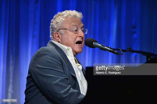 Musician Randy Newman performs at the 2013 UCLA Neurosurgery Visionary Ball at the Beverly Wilshire Four Seasons Hotel on October 24 2013 in Beverly...