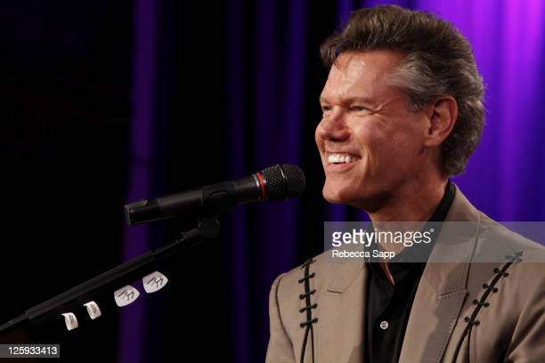 Musician Randy Travis speaks onstage at An Evening With Randy Travis at The GRAMMY Museum on September 21 2011 in Los Angeles California