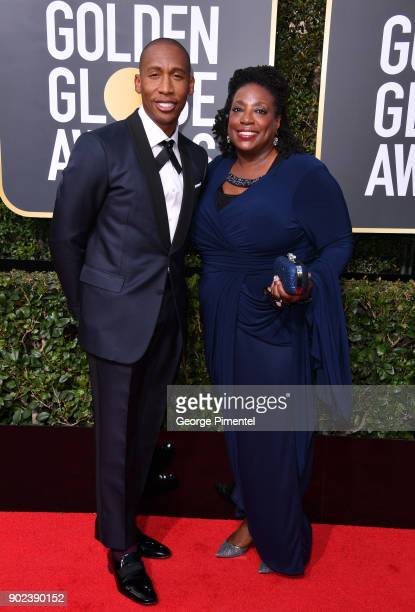 Musician Raphael Saadiq and Guest attend The 75th Annual Golden Globe Awards at The Beverly Hilton Hotel on January 7 2018 in Beverly Hills California