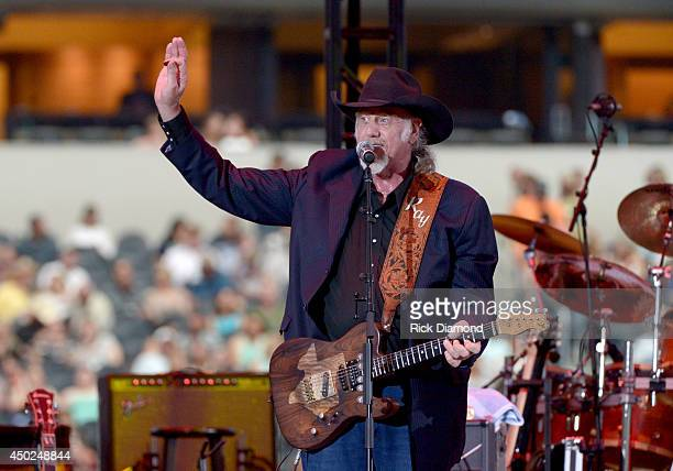 Musician Ray Benson of Asleep at the Wheel performs onstage at George Strait's 'The Cowboy Rides Away Tour' final stop at ATT Stadium at ATT Stadium...
