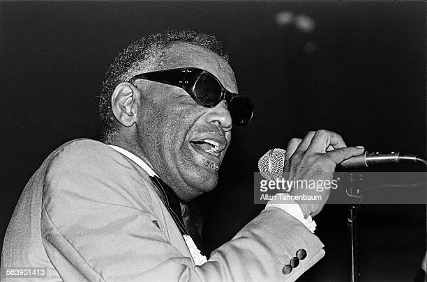 Musician Ray Charles performs at the Ritz New York New York July 31 1980
