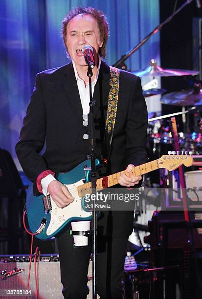 Musician Ray Davies performs onstage at Clive Davis and the Recording Academy's 2012 PreGRAMMY Gala and Salute to Industry Icons Honoring Richard...