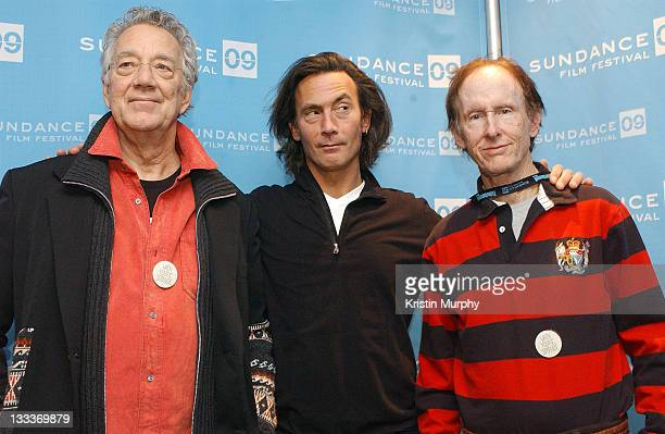 Musician Ray Manzarek of The Doors director Tom Dicillo and musician Robby Krieger of The Doors attend the premiere of When You're Strange during the...