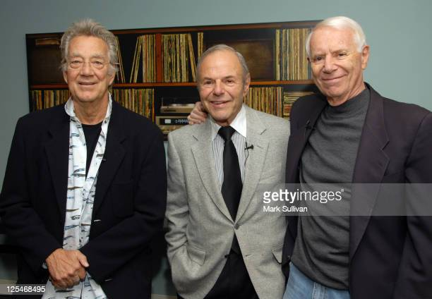 Musician Ray Manzarek of The Doors former Warner Bros Records President Joe Smith and Elektra Records founder Jac Holzman attend An Evening With Jac...