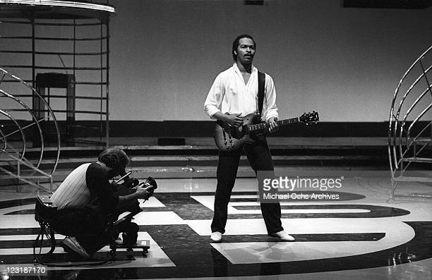 Musician Ray Parker, Jr. Performs on American Bandstand on April 17, 1982 in Los Angeles, California.