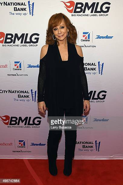 Musician Reba McEntire attends as Big Machine Label Group celebrates The 49th Annual CMA Awards at Rosewall on November 4 2015 in Nashville Tennessee