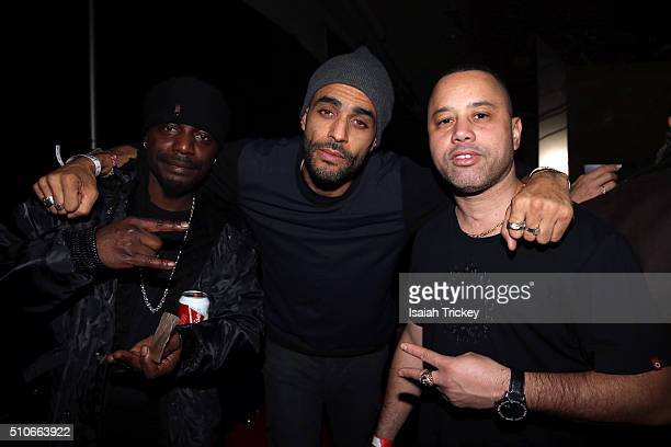 Musician Red1 Sol Guy of Tribeca Films and DJ Power attend the Allstar Champions Gala at Exhibition Grounds on February 13 2016 in Toronto Canada