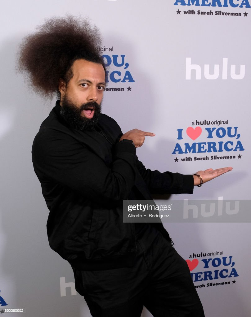 Musician Reggie Watts attends a photo op for Hulu's 'I Love You America' with Sarah Silverman at Chateau Marmont on October 11, 2017 in Los Angeles, California.