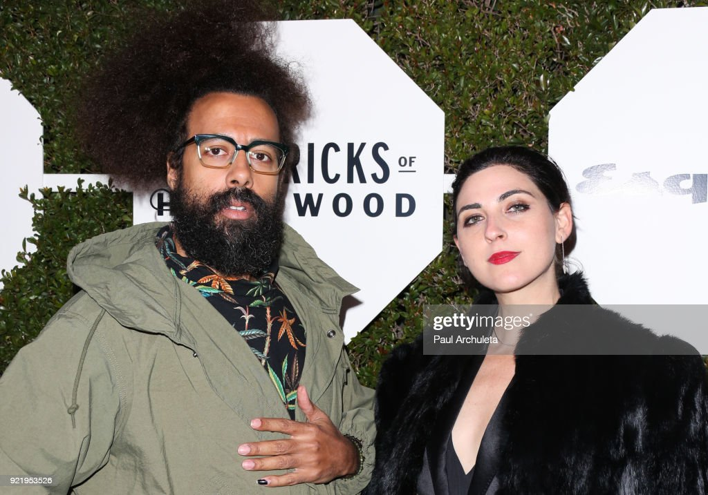 Musician Reggie Watts (L) attends Esquire's annual 'Maverick's Of Hollywood' event at Sunset Tower on February 20, 2018 in Los Angeles, California.