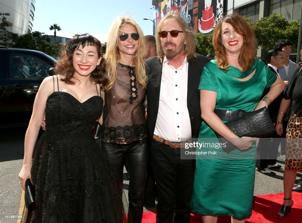 Musician Regina Spektor, Dana York, musician Tom Petty and Adria Petty arrive at the 2012 MTV Video Music Awards at Staples Center on September 6, 2012 in Los Angeles, California.