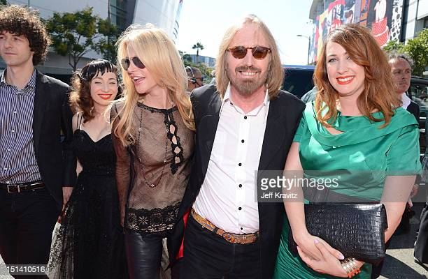Musician Regina Spektor Dana York musician Tom Petty and Adria Petty arrive at the 2012 MTV Video Music Awards at Staples Center on September 6 2012...