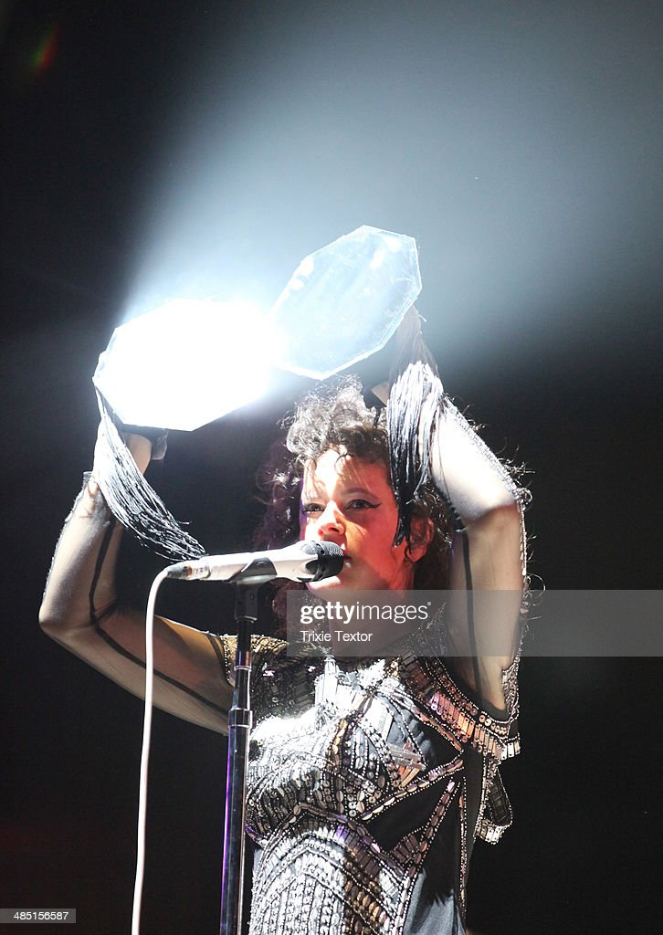 Musician Regine Chassagne of the band Arcade Fire performs onstage during day 3 of the 2014 Coachella Valley Music & Arts Festival at the Empire Polo Club on April 13, 2014 in Indio, California.