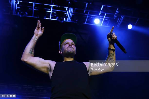 Musician Rene Perez Joglar aka Residente performs during a show as part of Residente USA Tour at The Bomb Factory on August 30 2017 in Dallas US