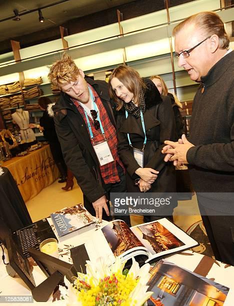 Musician Renn Hawkey and actress Vera Farmiga attend Kari Feinstein Style Lounge on January 21 2011 in Park City Utah
