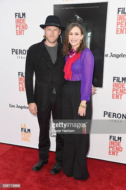Musician Renn Hawkey and actress Vera Farmiga attend the premiere of The Conjuring 2 during the 2016 Los Angeles Film Festival at TCL Chinese Theatre...