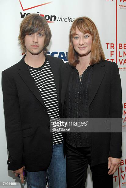 Musician Rhett Miller and wife Erica pose at the ASCAP Tribeca Music Lounge held at the Canal Room during the 2007 Tribeca Film Festival on May 1...