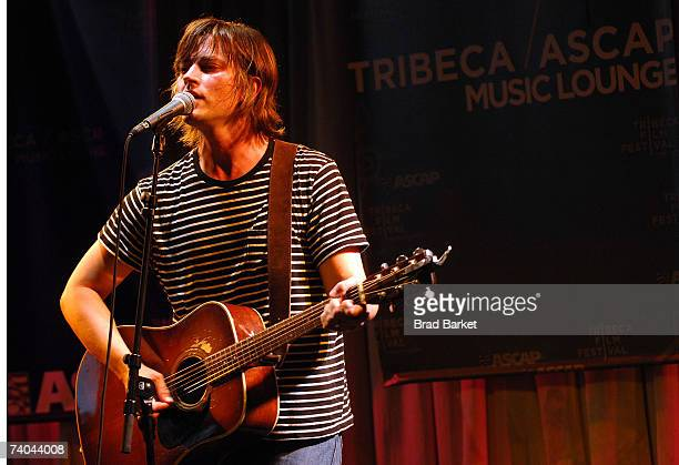 Musician Rhett Miller performs onstage at the ASCAP Tribeca Music Lounge held at the Canal Room during the 2007 Tribeca Film Festival on May 1 2007...