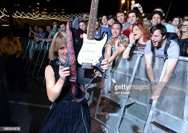 Musician Rhiannon 'Ritzy' Bryan of The Joy Formidable during day 2 of the Life is Beautiful festival on October 27 2013 in Las Vegas Nevada