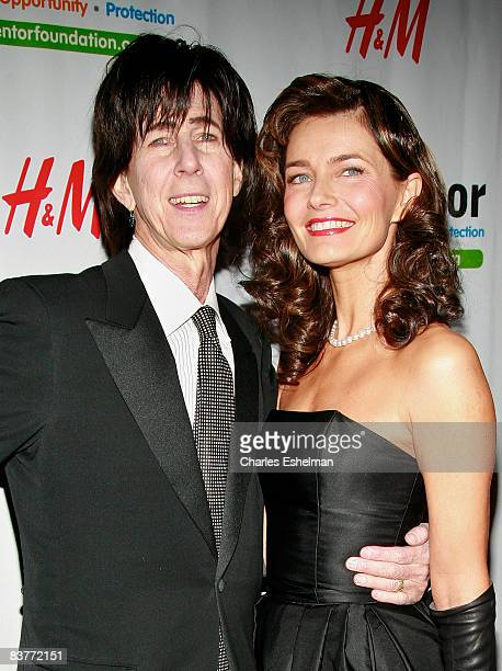 Musician Ric Ocasek and model Paulina Porizkova attend the New York Inaugural Royal Gala presented by the Mentor Foundation at the Waldorf Astoria on...