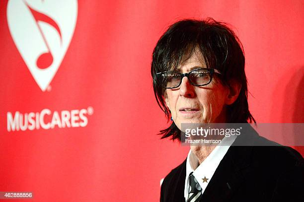 Musician Ric Ocasek attends the 25th anniversary MusiCares 2015 Person Of The Year Gala honoring Bob Dylan at the Los Angeles Convention Center on...