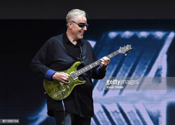 Musician Rich Williams of Kansas performs onstage at the 'Supernatural' panel during ComicCon International 2017 at San Diego Convention Center on...